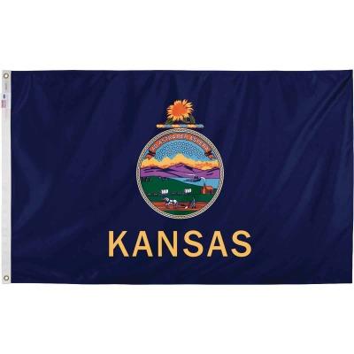 Valley Forge 3 Ft. x 5 Ft. Nylon Kansas State Flag