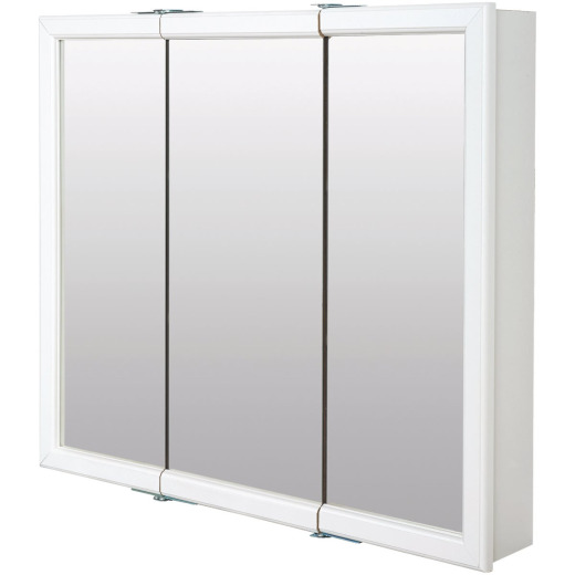 Zenith Zenna Home White 30 In. W x 28 In. H x 6 In. D Tri-View Surface Mount Medicine Cabinet