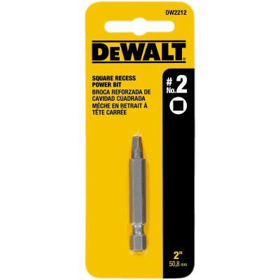 DeWalt Square Recess #2 2 In. Power Screwdriver Bit