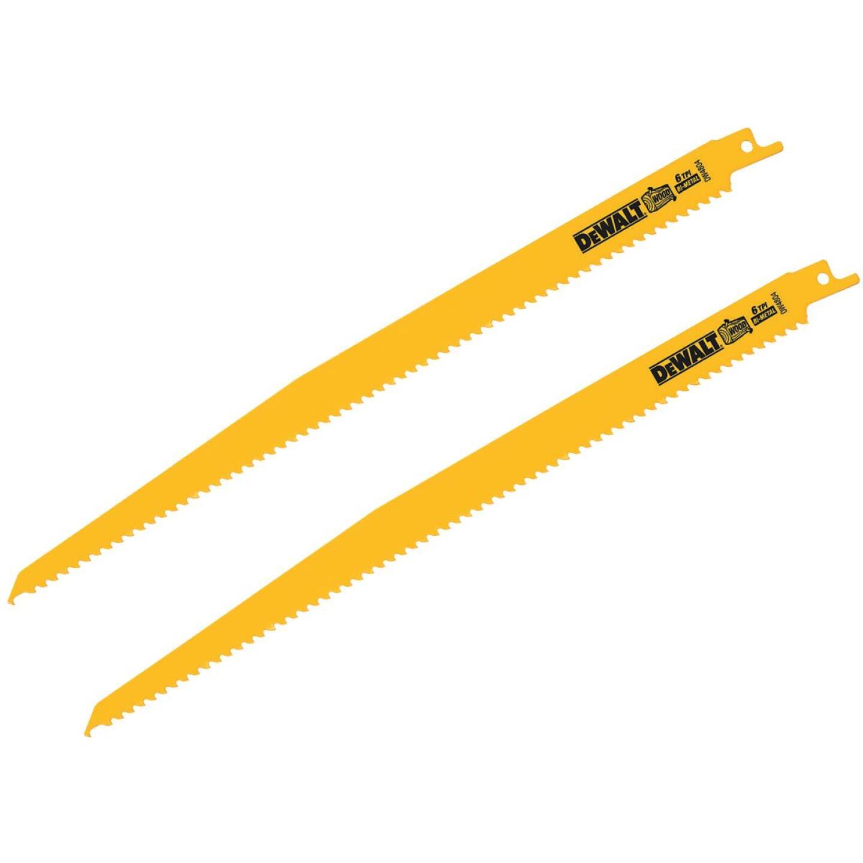 DeWalt 12 In. 6 TPI Wood Reciprocating Saw Blade (2-Pack) Image 1