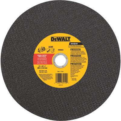 DeWalt HP Type 1 12 In. x 1/8 In. x 1 In. Metal Cut-Off Wheel